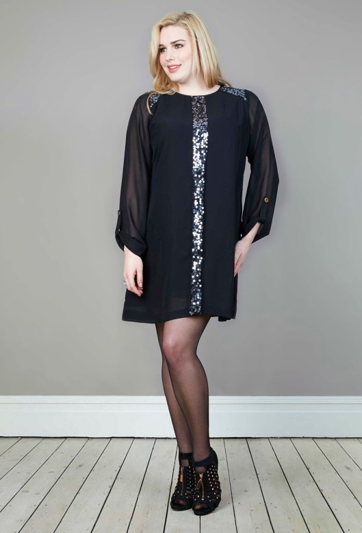 anna scholz georgette beaded tunic