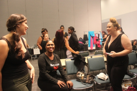 Haute Curves Models Mingling before the Show!